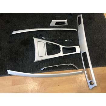 BMW 3 SERIES E90 INTERIOR TRIM SET SILVER DASH DOOR FINISHERS  #75 *253