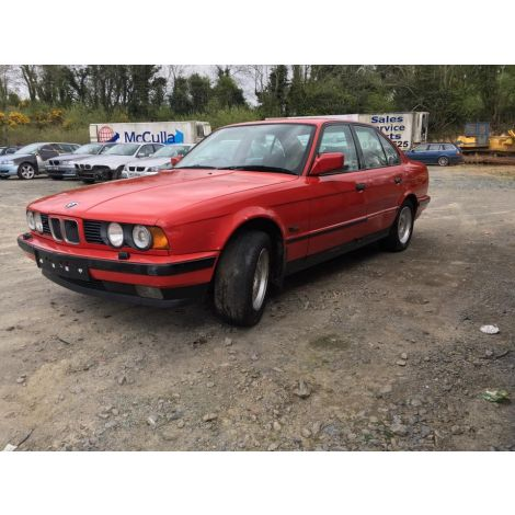 BMW E34 5 SERIES 1988 525i 5 SPEED MANUAL ZINNOBERROT PARTS SPARES BREAKING QUOTE *224