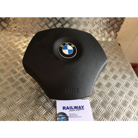 BMW E90 3 SERIES 2006 318i STEERING WHEEL AIRBAG 1 3 SERIES E81 E84 E88 E87 E90 E91 E92 E93 6774945 B141 *349