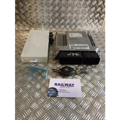 BMW 2003 5 SERIES E60 530D M57 MANUAL ENGINE ECU KIT 7793574 0281011224 B206 *367